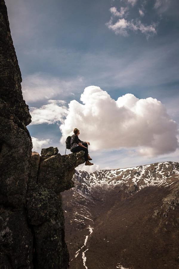 Montagne escalade grimpeur