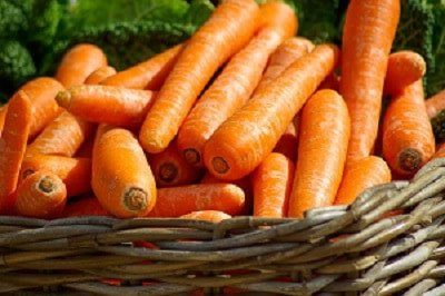 Carrotte dans panier, consommation éco-gîte