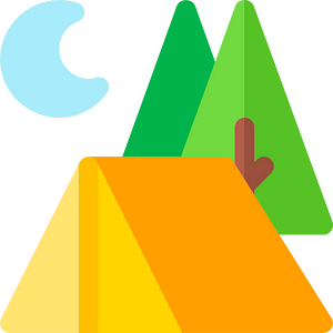 illustration camping tente
